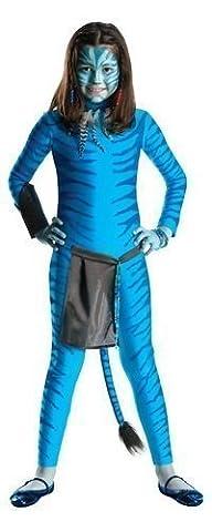 Officiel Filles Avatar Neytiri Film Bleu Halloween Déguisement Costume Tenue 3-10 an - 3-4 years