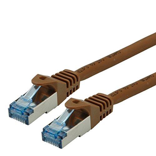 ROLINE S/FTP LAN Kabel Cat 6A Component Level LSOH| Ethernet Netzwerkkabel mit RJ45 Stecker | Braun 7,5 m - Twisted-pair-Übertragung