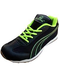 Livia Sports Flex Experience Girl's Black Green Sports Running Shoes