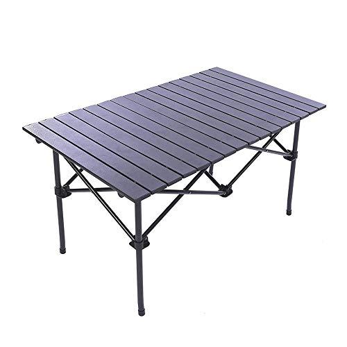 g Lange Camp Tisch Roll-Top leichte tragbare stabile vielseitige 4-6 Personen kompakte und einfache Transport für Camping Picknick Urlaub, Outdoor Klapptisch (Size : L) ()