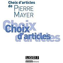 Choix d'articles de Pierre Mayer