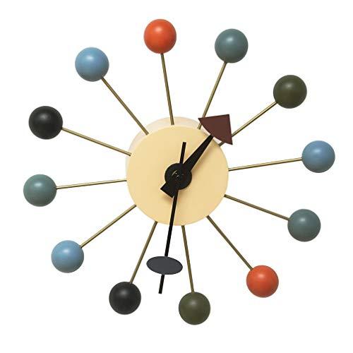 Clock nelson orologio a sfera supporto in alluminio di legno e metallo movimento analogico 12.9