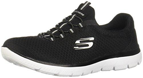 Skechers Flex Appeal 2.0 Soft Shock - Zapatillas de Piel para mujer Gris CHAR Charcoal 35 Negro Size: 35 7Lel38w
