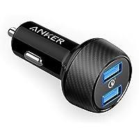 QC 3.0 Chargeur Voiture Anker PowerDrive Speed 2 Quick Charge 3.0 - Chargeur Allume Cigare 2 Ports 39W Qualcomm QC 3.0 pour Samsung Galaxy S8/S8 edge/S7/S7 edge/S6/S6 edge avec PowerIQ pour iPhone X / 8 / 8 Plus / 7 / 7 Plus / 6s / 6s Plus et 6 / 6 Plus