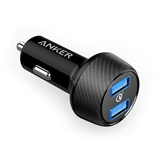 Anker PowerDrive Speed 2 39W Auto Ladegerät, 2 Port Kfz Ladegerät mit Quick Charge 3.0 und PowerIQ für Samsung Galaxy / Note/ S9, iPhone, iPad, HTC, LG, Smartphones, Tablets, Powerbank und mehr