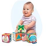 Winfun Activity Baby Soft Würfel 4 Stück mit zum Entdecken Spielen Hören ..