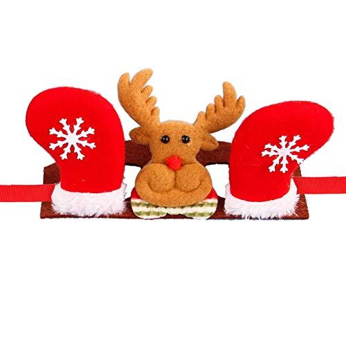 highouse Unvergleichliche Hunde Katze Haustier Kappe Kostüm Stirnband Mütze Hut Krone Weihnachten Party Haar Pflege Produkte Zubehör - Rot Elk-M, (Einfach Rote Haare Kostüm)