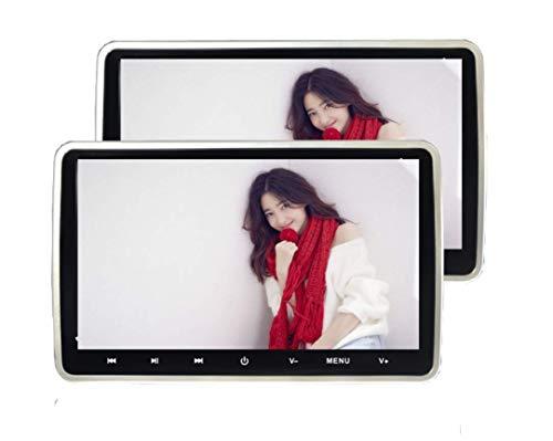 Z-SGYX Auto DVD-Player 10,1 Zoll 1024 P HD Kopfstütze DVD-Player Monitor Auto Rear Seat Entertainment System für Lange Auto Reise mit USB SD HDMI AV Spiel und FM Transmitter