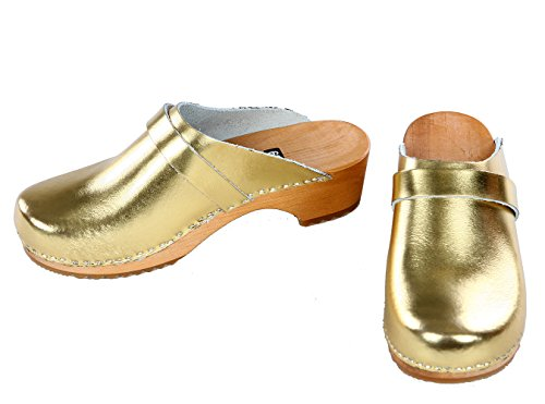 berlin-clogs - Lack Clog, Farbe: silber, Groesse: 39