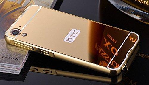 CI CLIFF Metal Bumper Plastic Mirror Back Cover Case for HTC Desire 826- GOLD