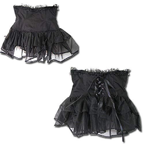 Black Sugar Corsage Lacets Dentelle Gothique Punk Serre-taille Tutu Tulle Victorien Rétro Bouffant Dance (M(36))