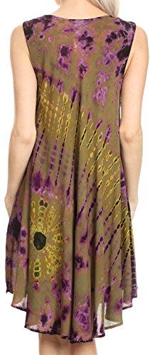 Sakkas Falani Tie Dye manches longues réservoir style Top | Couvrir Olive