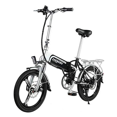 Bici elettriche Pieghevole Batteria al Litio Bicicletta Elettrica Ciclomotore Mini Adulto Auto Batteria per Uomini E Donne Piccola Auto Elettrica, Durata della Batteria 50-60 Km