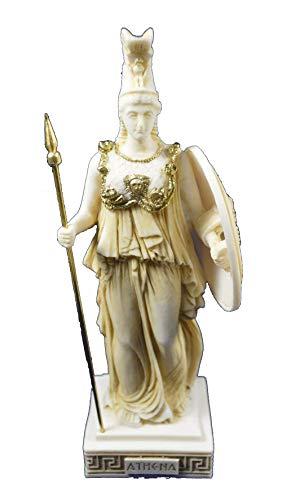 Estia Creations Athena Skulptur Göttin Antiken Griechischen Göttin der Weisheit und Strategie Alter Statue
