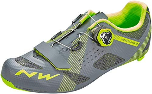 Northwave Storm Carbon Rennrad Fahrrad Schuhe grau/gelb 2020: Größe: 44.5
