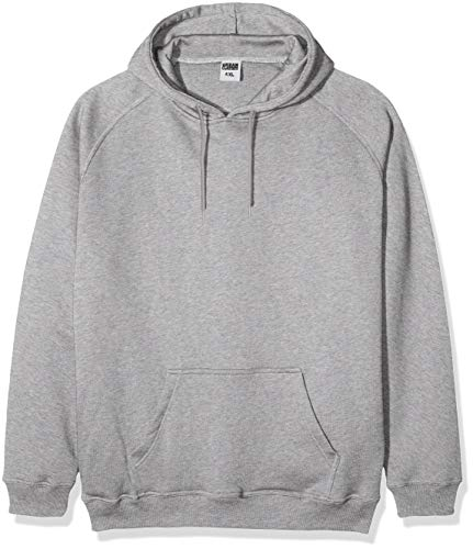 Urban Classics Herren Kapuzenpullover Blank Hoodie, Farbe grey, Größe 3XL - Ash Grau Kapuzen-sweatshirt