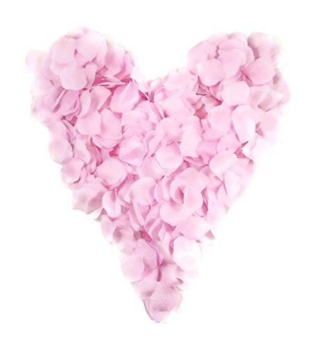 500 rosa Rosenblätter, rosafarben, gepackt zu 5x100 Stück, weich - Geburt, Hochzeit, Taufe, Valentinstag, Geburtstag, Streudeko, Basteln, pink, babyrosa
