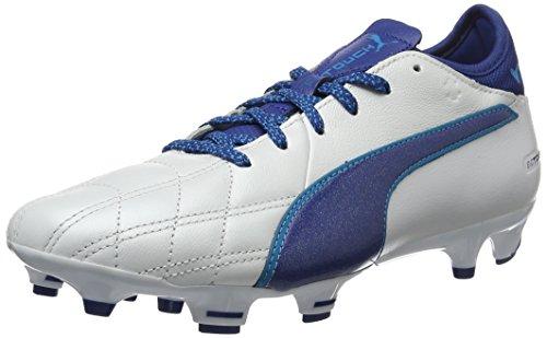 Puma Herren Evotouch 3 Lth Fg Fußballschuhe Weiß (Puma White-True Blue-Blue Danube 02)