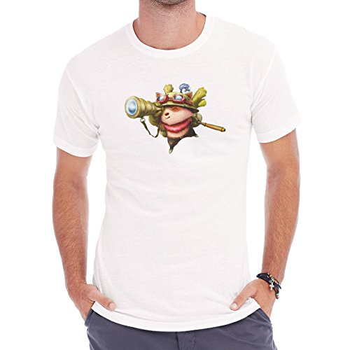 League Of Legends Teemo Looking Herren T-Shirt Weiß