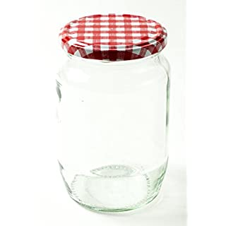 Nutley's 380 ml Jam and Pickle Jar Lid - Red Gingham (Pack of 6)