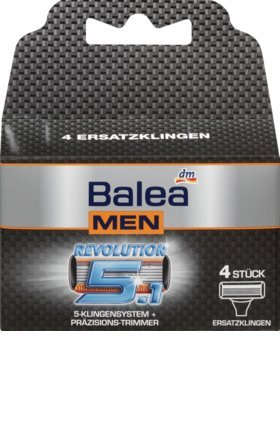 Balea MEN Rasierklingen Revolution 5.1, 1 x 4 St