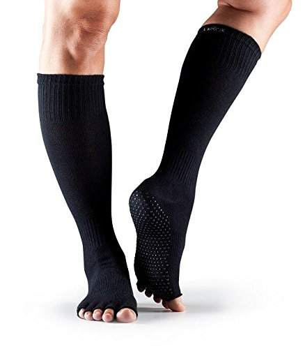 Half Zehen Knie Hohe Grip Socken Small schwarz ()