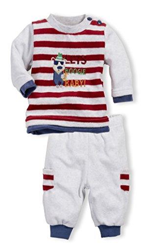Schnizler - Nickianzug Let's Boogie, Oeko-Tex Standard 100, Jogging Suit bambini e ragazzi, grau/melange 37,