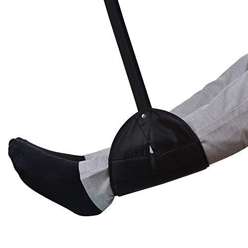 Sleepy Ride - Flugzeug Fußstütze mit Premium-Speicher gemacht B & T Travel Zubehör Fußstützen Hängematte, schwarz