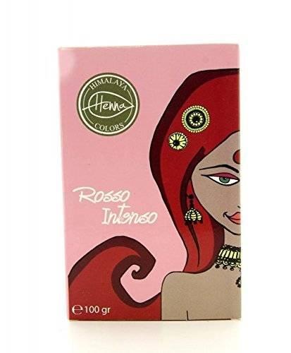 HIMALAYA - Poudre Colorante pour les Cheveux - Rouge intense - Couvre les Cheveux Gris - Protège et Nourrit - Non Testé sur les Animaux - 100 g