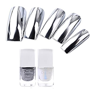 Weisy Silver Mirror Peel Off Nail Polish Metallic Plating Effect for Nail Art 7ML