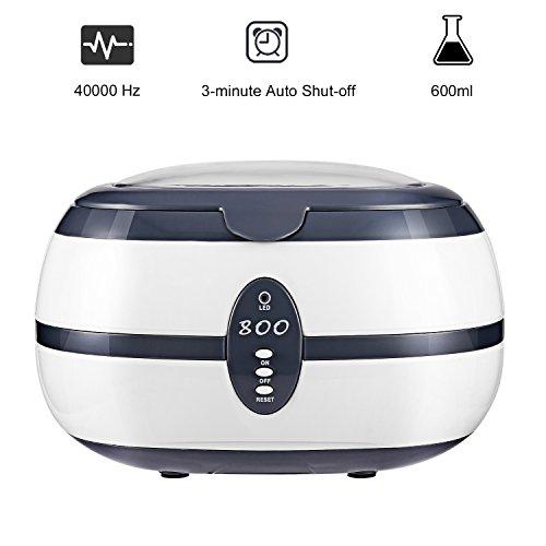ICOCO Nettoyeur à ultrasons Appareil Nettoyage Bac à Ultra-Sons numérique pour Bijoux CD Lunettes Bracelet Cosmétique Outils de Laboratoire Instruments Accessoires et etc (600ml (0.6L))
