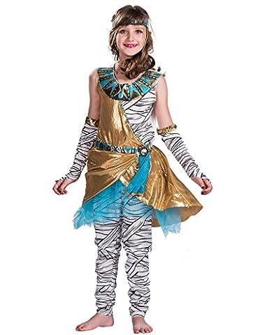 EraSpooky Mädchen Mummy Kostüm Halloween Kostüm 4-teilig Kleid, Leggings, Handschuhe und (22 Halloween Kostüme)