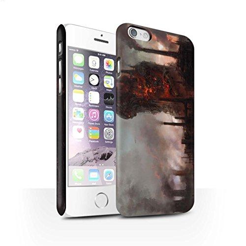 Offiziell Chris Cold Hülle / Matte Snap-On Case für Apple iPhone 6S / Gift Haupt Muster / Gefallene Erde Kollektion Industrie Maschine