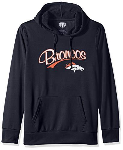 NFL Denver Broncos Female OTS Poly Fleece Pullover, Fall Navy, Medium