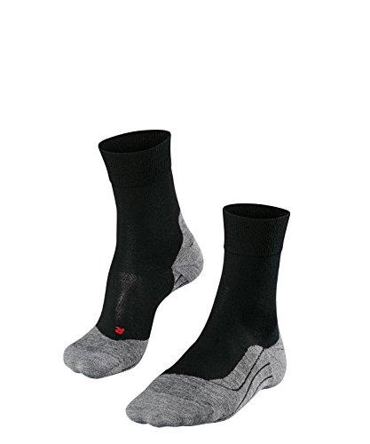 FALKE Herren Socken Laufsocken RU4 Wool - 1 Paar, Gr. 42-43, schwarz, feuchtigkeitsregulierend, Sportsocken Running (Herren Apparel Wool Socks)