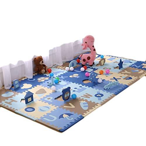 HLMIN 28 Stück Baby-Krabbeldecke Kinder Spielen Puzzle Schaum Ineinandergreifende Bodenfliesen Weich Ungiftig Mit Buchstaben (Farbe : E, größe : 30cmx30cmx1.3cmx28pcs)