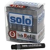 Solo 48Pcs White Board Marker Refill Black