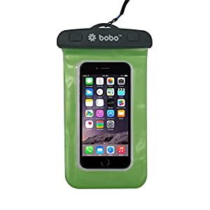 BOBO Universal Waterproof Pouch Cellphone Dry Bag Case for iPhone Xs Max XR XS X 8 7 6S 6 Plus, Samsung Galaxy S9 S8 + Note 8 6 5 4, Pixel 3 2 XL, Mi, Moto up to 6.5 inch – Green (Pack of 1)