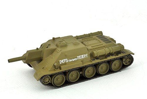 Eaglemoss Militär Panzermodell UDSSR Russischer Panzer 2. Weltkrieg Kampfpanzer SU 122 1:72 ca. 9 cm Metall