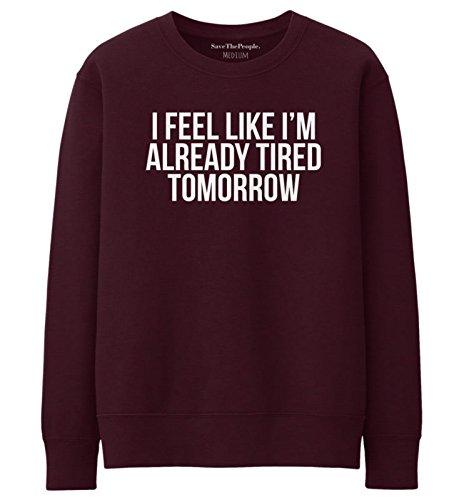 SaveThePeople - Sweat-shirt - Femme XL Bordeaux