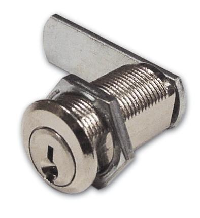 Serratura a Cilindro per Antina Nichelata Meroni Art 216 Misura 25 mm Ø 16 mm