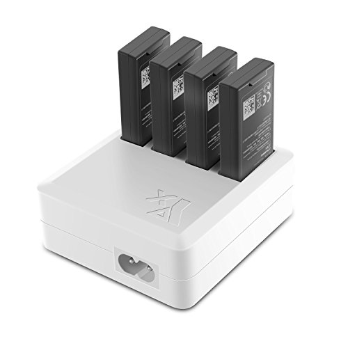 PENIVO Tello Ladegeräte,4 in 1 Intelligent Multi Charging Hub Batterie Ladegerät für DJI Tello Drohne Zubehör
