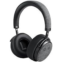 Bluetooth de cancelación de ruido de auriculares, ocday H5ANC Wireless de Alta Resolución Auriculares Soporte APT-X Tecnología inalámbrica over Ear Headset con Digital anulación Graves Negro