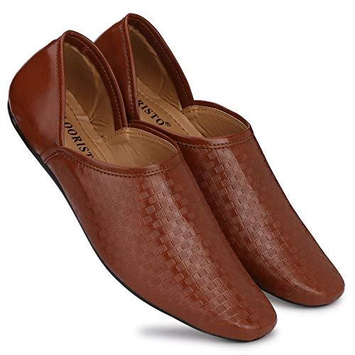 Flooristo Ethnic/Formal/Casual/Loafer Shoes for Men (7uk/ind (Eu-41), Brown)
