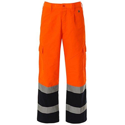 WORK AND STYLE Pantaloni Alta visibilità Bicolore - Lumen Arancio/Blu Navy, L