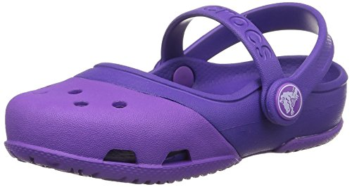 Crocs Electro II Mary Jane, Mädchen Mary Jane Halbschuhe, Violett (Neon Purple/Ultraviolet), 28/29 EU - Mary Purple Jane Schuhe