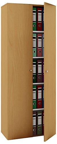 Büroschrank Buche - Ein VCM Büroschrank mit 5 Fächern