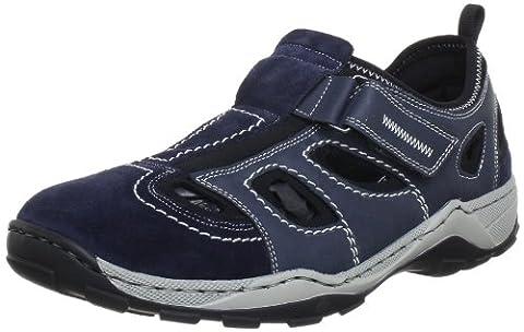 Rieker 08075 Sneakers-Men, Herren Sneakers, Blau (pazifik/denim/schwarz/14), 42 EU (Co Leder Sling)