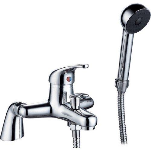 Chrome Bath Mixer Tap & Hand Shower (Aero 4B) by Grand Taps