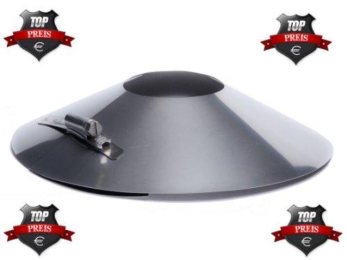 Rosette Edelstahl DN 150 150mm Abgasrohr Schornstein Kragen Wandblende Kamin